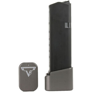 Taran Tactical Innovations +4/+5 GLOCK 19/23 Firepower Base Pad Kit Titanium Gray