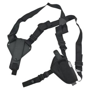 "Uncle Mike's Sidekick Cross Harness Horizontal 3""-4"" Barrel Medium Frame Semi Autos Shoulder Holster Ambidextrous Nylon Black 8701-0"