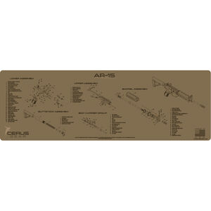 """Cerus Gear AR-15 Schematic ProMat Rifle Size 12""""x36"""" Synthetic Coyote Tan"""