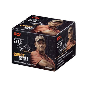 CCI Troy Landry Mini-Mag .22 LR Ammunition 36 Grain Copper Plated Hollow Point 1260 fps