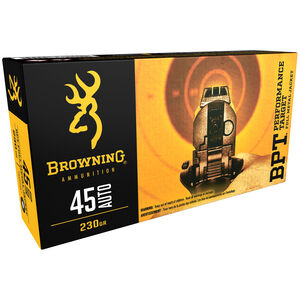 Browning BPT Performance Target .45 Auto Ammunition 230 Grain FMJ 920 fps