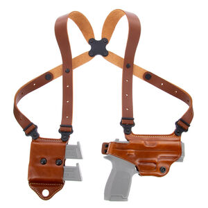 Galco Miami Classic II Shoulder Holster System fits S&W J Frame Right Hand Leather Tan