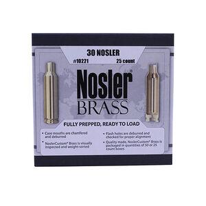 Nosler Custom 30 Nosler Unprimed Reloading Brass, 25 Casings