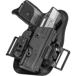 Alien Gear ShapeShift OWB Slide Holster S&W M&P Shield .380 EZ OWB Belt Slide Holster Right Handed Synthetic Backer with Polymer Shell Black