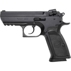 "Magnum Research Baby Desert Eagle III Semi-Compact Semi Auto Pistol 9mm Luger 3.85"" Barrel 15 Rounds Combat 3 Dot Fixed Sights Polymer Frame Matte Black Finish"