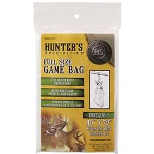"""Hunters Specialties Full Size Game Bag Woven Fabric Field Dressing Bag 40""""x72"""" 01237"""