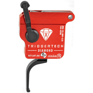 Trigger Tech Remington 700 Clone Actions Diamond Trigger Single Stage Flat 7075 Aluminum Anodized Housing Red