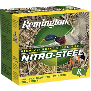 "Remington Nitro-Steel High Velocity 12 Gauge Ammunition 2-3/4"" Shell #BB Steel Shot 1-1/4oz 1275fps"