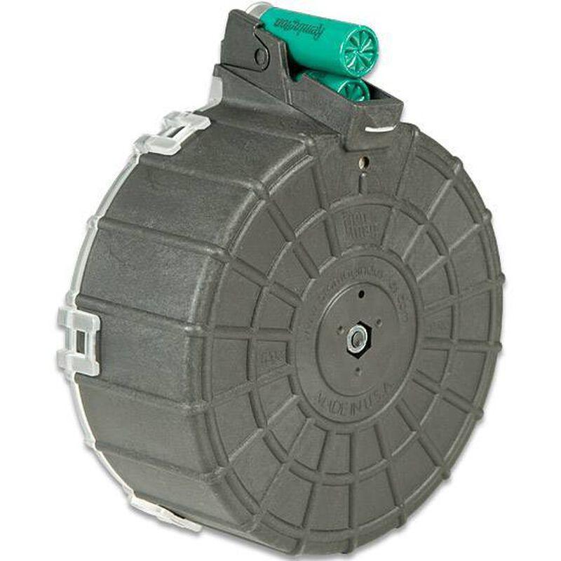 "ProMag SAIGA Semi Auto Shotgun Drum Magazine 12 Gauge 2-3/4"" Shells Only 20 Rounds Polymer Black SAI-A6"