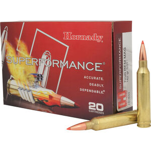 Hornady 7mm Remington Magnum Ammunition 20 Rounds SST 162 Grains