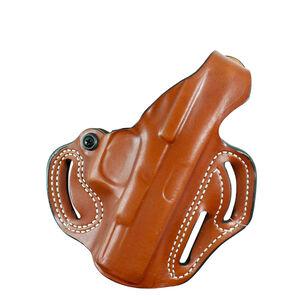 "DeSantis Thumb Break Scabbard Belt Slide Holster fits SIG Sauer P320/250 Full Sized OWB 1.75"" Belt Right Hand Leather Tan"