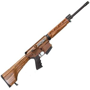 "Windham Weaponry Hunter Semi Auto Rifle .308 Win 18"" Barrel 5 Rounds Nutmeg Laminate Stock Coyote Brown Receiver R18FFTWS2308"