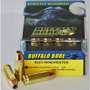 Buffalo Bore 9x23 Winchester Ammunition 20 Rounds JHP 124 Grains 9x23 124JHP/20