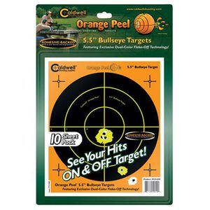 "Caldwell Orange Peel Adhesive Bullseye Targets 5.5"" Ten Pack 550010"