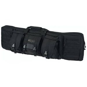 """Drago Gear 42"""" Double Gun Case Padded Backpack Straps Large Storage Pouches 600D Polyester Black 12-323BL"""