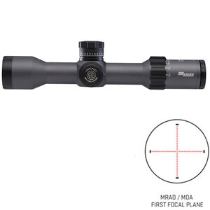 SIG Sauer Tango6 3-18x44 Rifle Scope Illuminated MRAD Reticle 30mm Tube .1 MRAD Adjustment First Focal Plane CR2032 Battery Black Finish