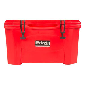 Grizzly Coolers Grizzly 40 Rotomolded 40 Quart Cooler Red/Red