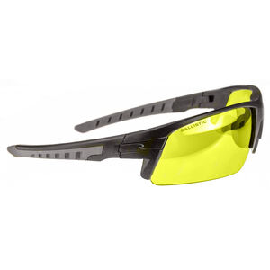 Radians Blast FX Shooting Glasses Ballistic Rated Eyewear ANSI Rated Enhanced Clarity Lens Amber Lens Black/Gray Frame