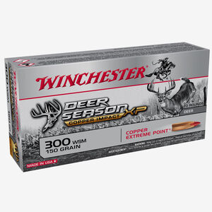Winchester Deer Season XP Copper Impact .300 Winchester Short Magnum Ammunition 200 Rounds Copper Extreme Point 150 Grains X300SDSLF