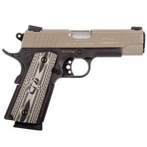 "Taurus 1911 Commander Single Action .45 ACP Semi Automatic Pistol 4.2"" Barrel 8 Rounds Novak Sights Custom VZ Grips Cerakote Sand Slide Matte Black Frame Finish"