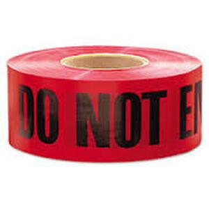 """Pro-Line Barricade Tape 1000' """"Do Not Enter"""" Tape 3"""" Width BT07"""