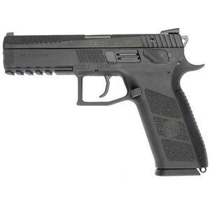 "CZ P-09 Full Size Semi Auto Pistol 9mm Luger 4.54"" Barrel 19 Rounds Magazine Fixed Three Dot Sights Omega DA/SA Trigger Polymer Frame Matte Black Finish"