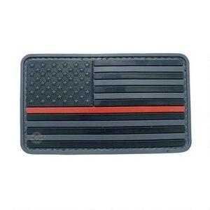 Tru-Spec PVC U.S. Flag Morale Patch Black and Red 6783000