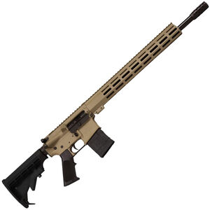 "Great Lakes .450 Bushmaster AR-15 Semi Auto Rifle 18"" Barrel 5 Rounds 15"" Free Float M-LOK Handguard Collapsible Stock FDE Cerakote Finish"