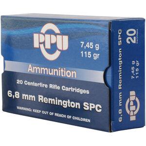 Prvi Partizan PPU Metric 6.8 SPC Ammunition 20 Rounds 115 Grain FMJ BT 2624fps