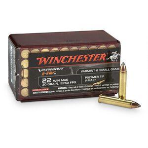 Winchester Varmint HV .22 WMR Ammunition 1000 Rounds, VMAX, 30 Grains