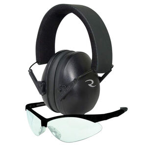Radians G4 Junior Shooting Glasses and Lowset Passive Earmuff Safety Ear/Eye Protection Black
