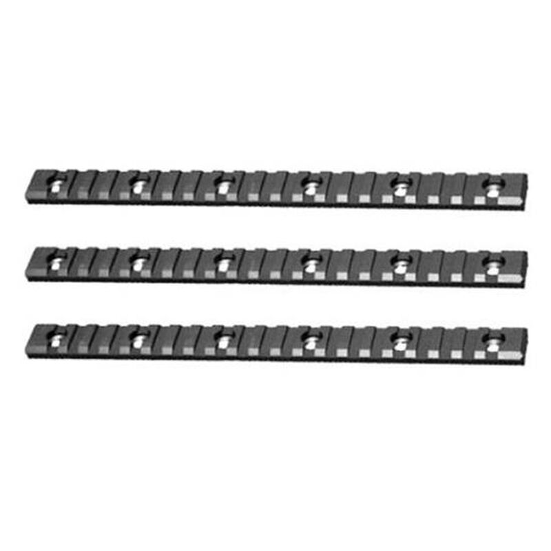 "Diamondhead VRS Accessory Rails 9"" Picatinny Rail 3 Pack Aluminum Black 2931"