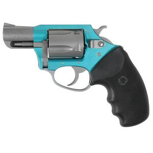 "Charter Arms Undercover Lite Revolver .38 Special +P 2"" Barrel 5 Round Black Rubber Grip Aluminum Turquoise Stainless Finish 53860"