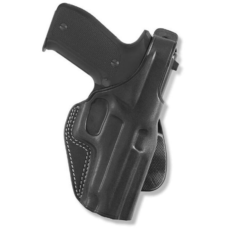 """Galco PLE Paddle Holster 1911s 4"""" Barrels Right Hand Leather Black PLE266B"""