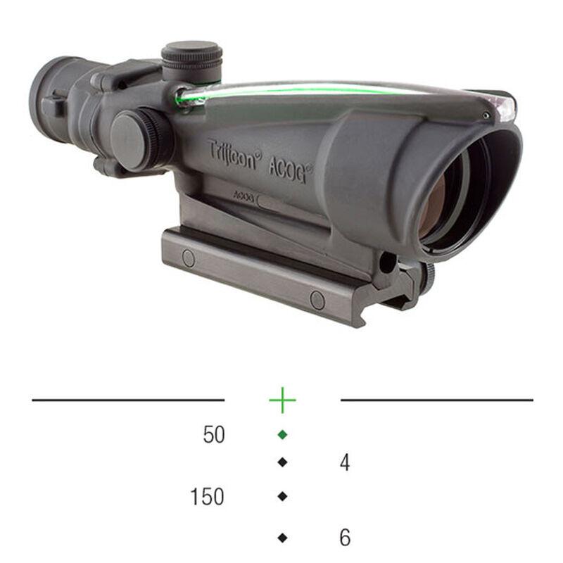 Trijicon ACOG 3.5x35 Scope Dual Illuminated Green Crosshair .300 Blackout Ballistic Reticle With TA51 Flattop Mount
