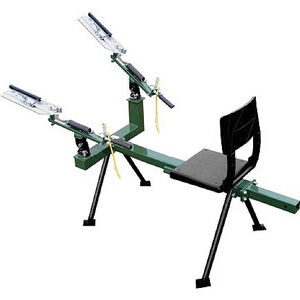 The Sporting Clay Master Double Full-Cock Trap 3-Pivot Mount Cast Steel Adjustable Clip Multidirectional Telescoping Frame Warranty Instructional Video