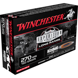 Winchester Expedition .270 Winchester Ammunition 200 Rounds Accubond 150 Grains S270LR