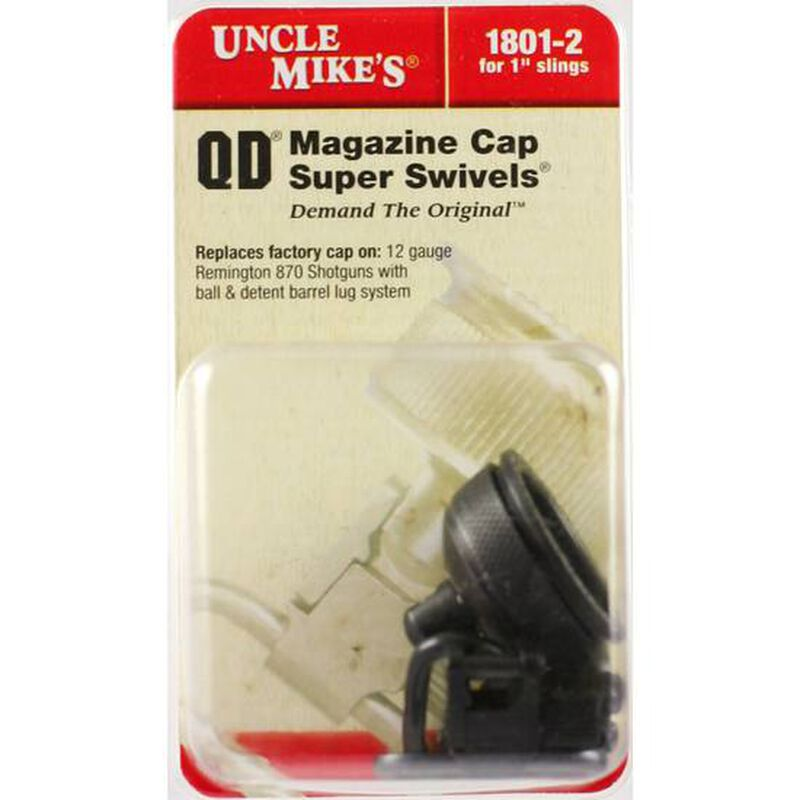 Uncle Mike's Remington 870 Shotgun Swivel Cap Set 12 Gauge Aluminum Black