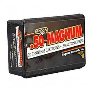 Magnum Research .50 AE 350 Grain JSP 20 Round Box