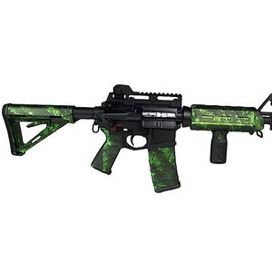 Matrix Diversified Industry AR-15 Magpul Furniture Kit Mil-Spec Polymer Zack Green Camo Finish MAGMIL05ZG