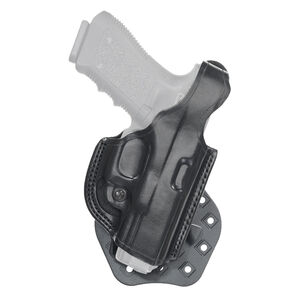 Aker Leather 268 FlatSider Paddle XR17 GLOCK 17 and 22 Belt Holster Right Hand Leather Plain Black H268BPRU-GL1722
