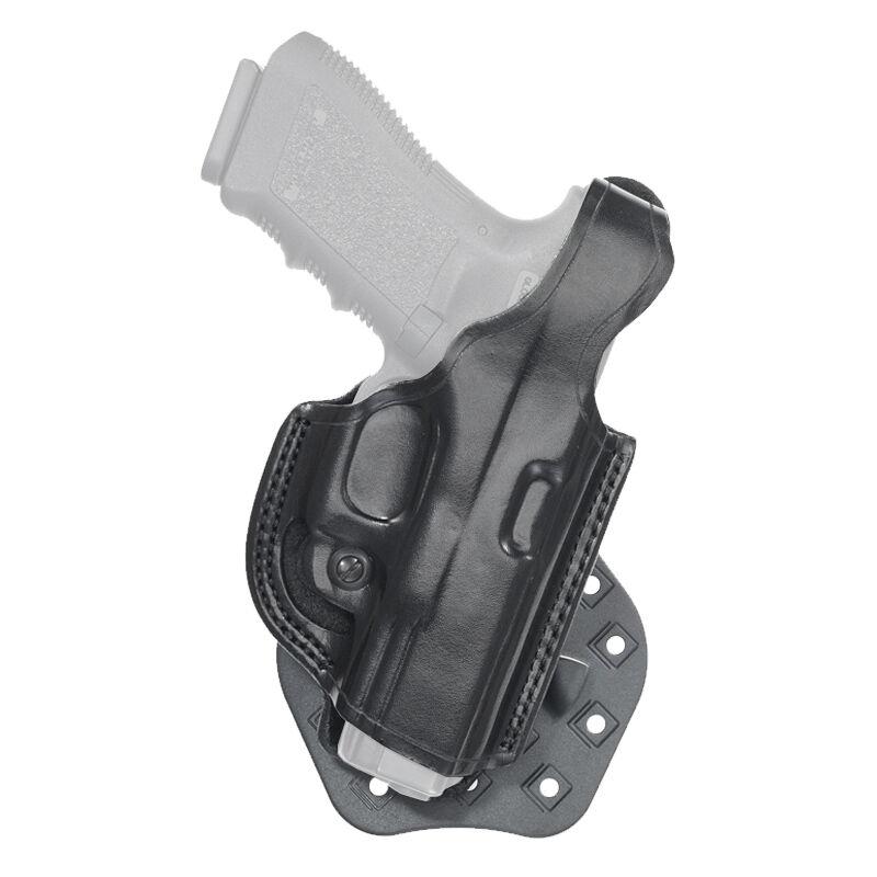 Aker Leather 268 FlatSider Paddle XR17 GLOCK 17 and 22 Belt Holster Right Hand Leather Plain Black H268BPRU-GL1722