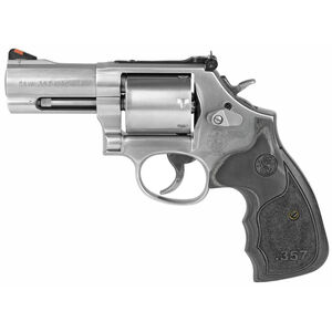 """S&W Model 686 Plus 3-5-7 Magnum .357 Mag Revolver 3"""" Barrel 7 Rounds Wood Grip Stainless"""