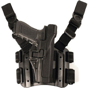 BLACKHAWK! SERPA Level 3 Tactical Holster Fits 1911 Full Size Right Hand Polymer Black
