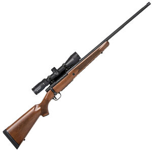 "Mossberg Patriot Vortex Combo Bolt Action Rifle .338 Win Mag 24"" Barrel 3 Rounds Vortex Crossfire II 3-9x40 Scope Walnut Stock Matte Blued"