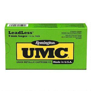 Remington 9mm Luger UMC Ammunition 50 Rounds FNEB 115 Grains