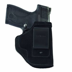 Galco Stow-N-Go S&W M&P Shield with Crimson Trace Laserguard or Lasermax CenterFire Inside Waistband Holster Right Hand Leather Black STO658B