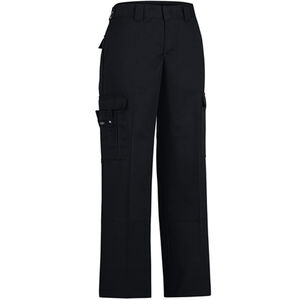 "Dickies Women's Flex Comfort Waist EMT Pants Poly/Cotton Twill Size 8 with 37"" Unhemmed Inseam Black LP2377BK 8UU"