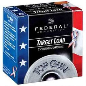 "Federal Top Gun Sporting Special Edition Red, White and Blue 12 Gauge Ammunition 2-3/4"" Shell #8 Lead Shot 1-1/8 oz 1145 fps"