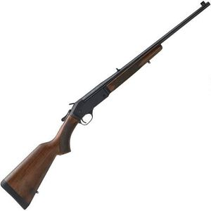 "Henry Repeating Arms Single Shot Youth .243 Win Break Action Rifle 22"" Barrel 1 Round Adjustable Rear Sight Walnut Stock Blued Finish"